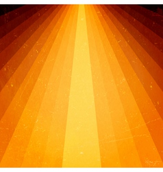 Golden light beams with grunge elements vector image vector image