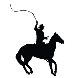 Horseman with Whip vector image vector image