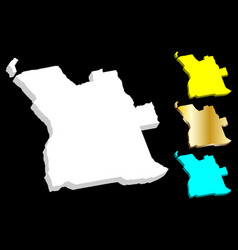 3d map of angola vector image