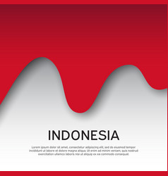 Abstract waving flag indonesia paper cut style vector