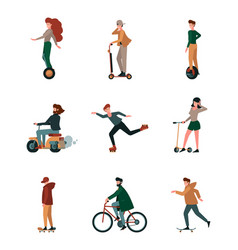 activity people urban riding active lifestyle vector image
