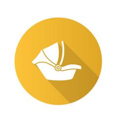 baby car seat flat design long shadow glyph icon vector image
