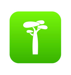 baobab icon green vector image