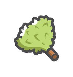 bath green broom icon cartoon vector image