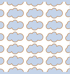 Beauty clouds background image vector