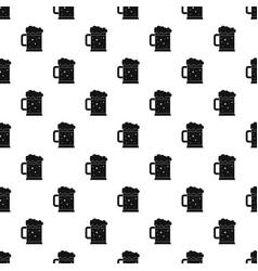 Beer mug pattern vector