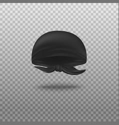black bandana head scarf tied in back vector image