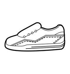 black silhouette sneaker sport shoes vector image