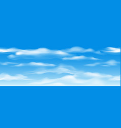 blue sky clouds seamless pattern vector image