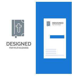 Book bible easter holiday grey logo design vector
