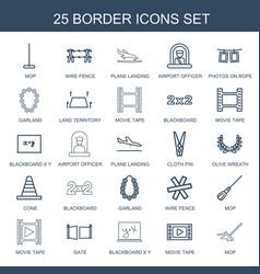border icons vector image