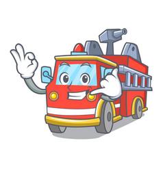 Call me fire truck mascot cartoon vector