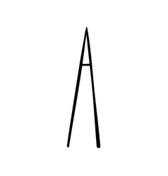 Capital letter a painted by brush vector