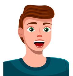 Cartoon a handsome young man vector