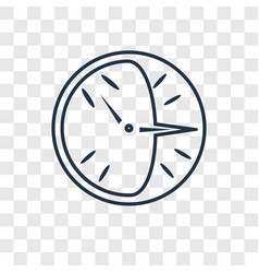 clock concept linear icon isolated on transparent vector image
