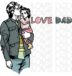Dad love vector