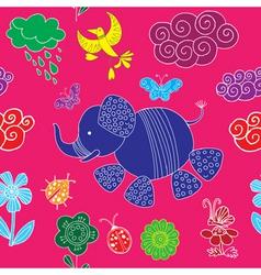 decorative elephant pattern vector image