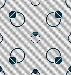 Diamond engagement ring icon sign Seamless pattern vector