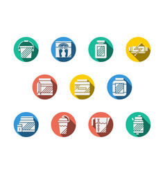 Dietary supplements round color icons vector
