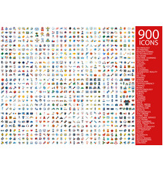 Digital 900 simple icons set vector