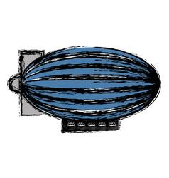 dirigible ballooon icon vector image