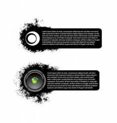 dirty banners vector image vector image