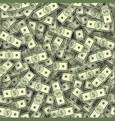 Dollar banknotes pile seamless texture vector