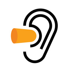 Ear and earplugs noise symbol vector
