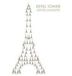 Eiffel tower artistic eiffel towers silhouette vector