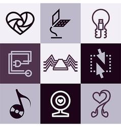 electronics logo icons vector image