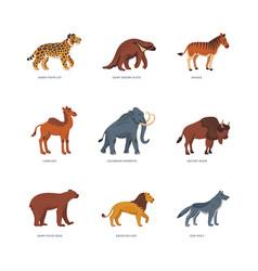 Extinct animals prehistoric american extinct wild vector
