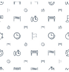 Finish icons pattern seamless white background vector