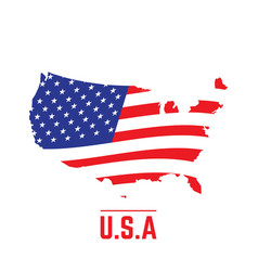 flag and map of the united states vector image