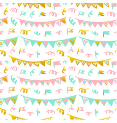 flags handdrawn seamless pattern vector image