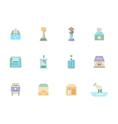Flat color donation icons set vector image