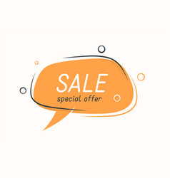 flat speech bubble shaped banner price tag vector image