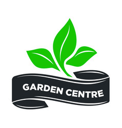 Garden center or gardening shop green leaf vector