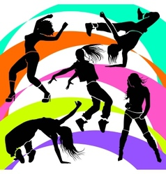 Girl dancer athletic club clubbers clubbing vector image
