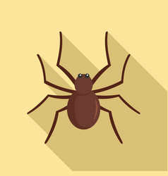 grass spider icon flat style vector image