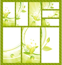 Green Eco Banner Collection vector image vector image