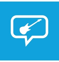 Guitar message icon vector