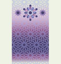 Islamic arabic mosaic violet border vector