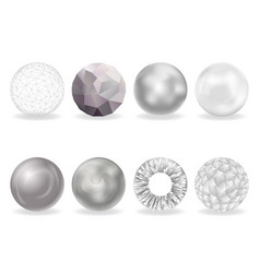 isolated on white abstract balls burst 3d curl vector image