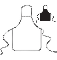 Kitchen apron vector