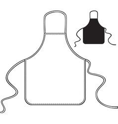 Kitchen apron vector