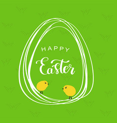 line style easter eggs vector image