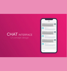 mobile ui design concept trendy chat application vector image