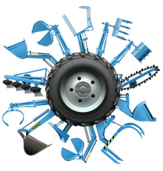 Multi Tractor Wheel vector