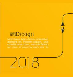 New year 2018 plug and socket vector