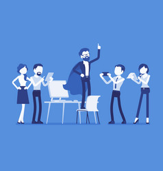 office hero admired by his colleagues vector image